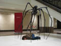 the public sleeping performance [Christie's Contemporary Auctions 2007, with Louise Bourgeois little Maman]