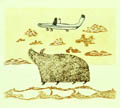 Muskox and Airplane