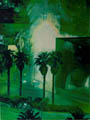 Green Night Palm Trees